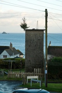 Concrete Tower, Portscatho, Cornwall