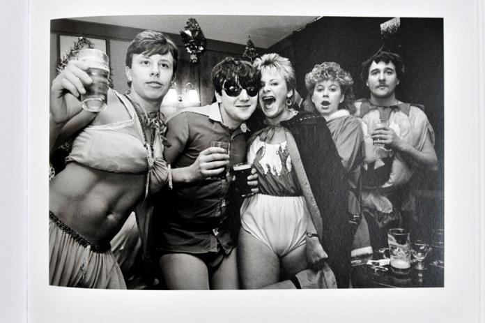 New Years Eve with neighbours and friends at Wombwell Working Men's Club, Station Road, Wombwell, 1984